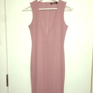 Missguided pink midi